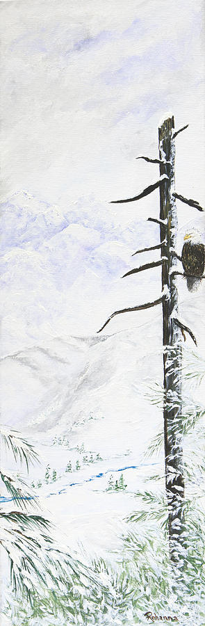 Snow Painting - Power And Illumination by Judy M Watts-Rohanna