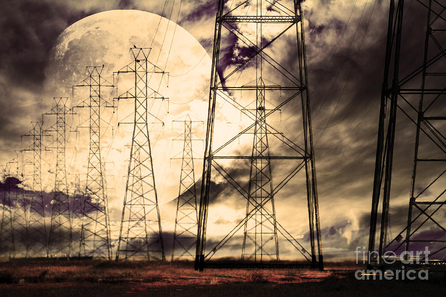 Wingsdomain Photograph - Power Grid by Wingsdomain Art and Photography