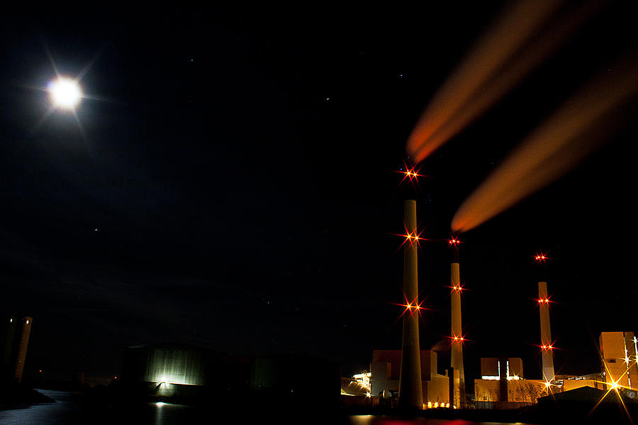 Powerplant Photograph - Powerplant In The Dark by Lars Bulow