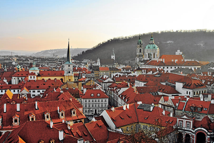 Roofs Photograph - Prague - A Story Told By Rooftops by Christine Till