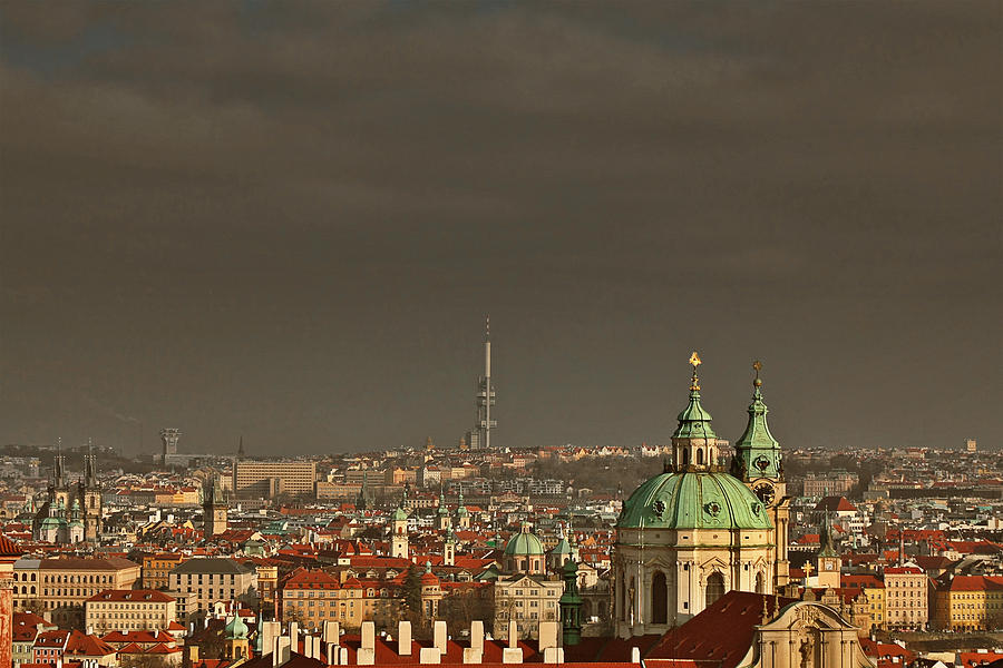 Roofs Photograph - Prague - A Symphony In Stone by Christine Till