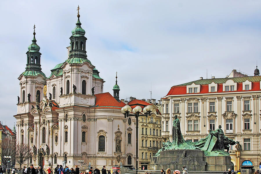 St Nicholas Church Photograph - Prague - St Nicholas Church Old Town Square by Christine Till