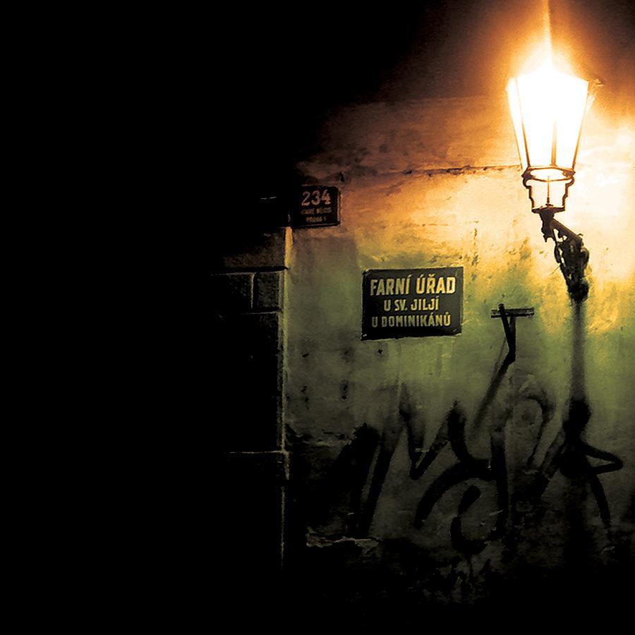 Street Photograph - Prague Street Light by Chris Giles