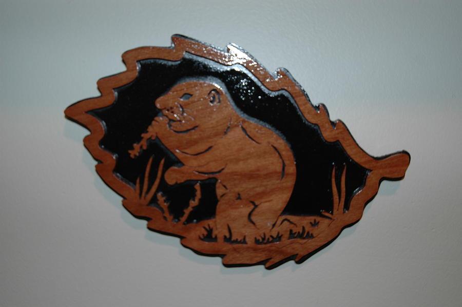 Prairie Dog Mixed Media - Prairie Dog Forest Leaf by Amy Burke