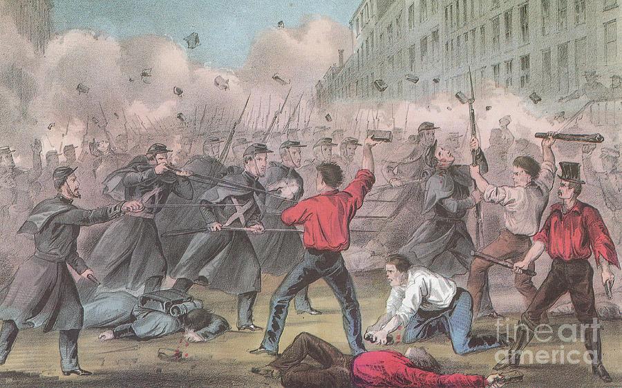 America Photograph - Pratt Street Riot, 1861 by Photo Researchers