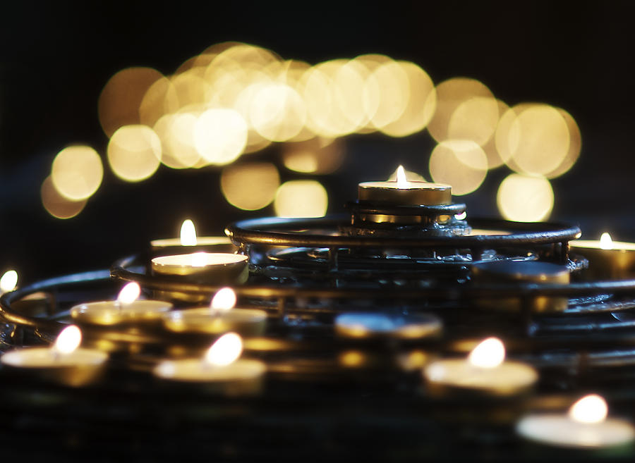 Candles Photograph - Prayer Candles by Beth Riser