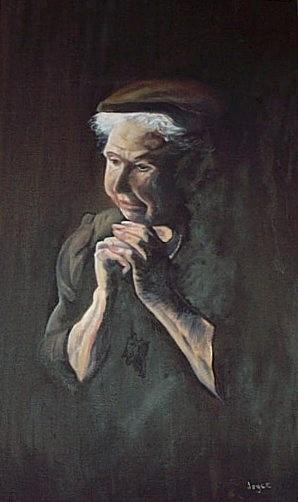 Portrait Painting - Prayer by Joyce Reid