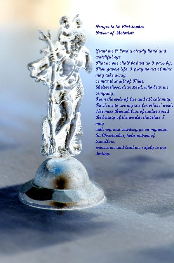 Prayer Mixed Media - Prayer To St Christopher by Maria Urso