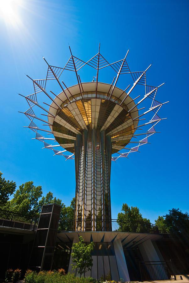 Oral Roberts University Photograph - Prayer Tower Flower by David Waldo