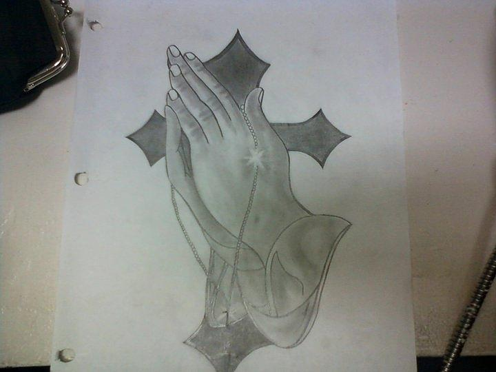 how to draw praying hands step by step