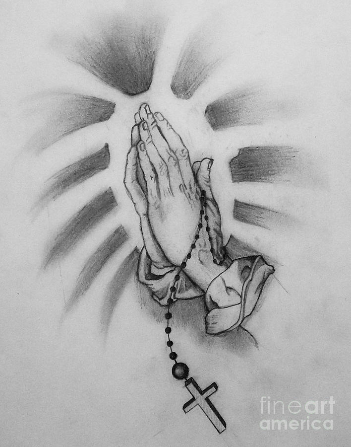Praying Hands Drawing By Holly Hunt