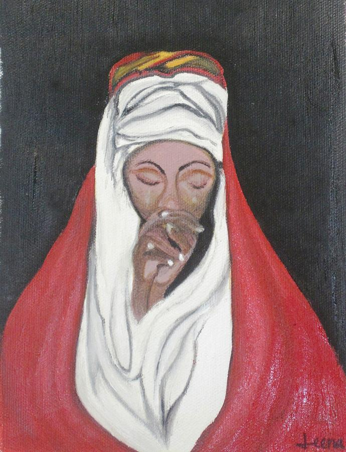 Praying Woman-oil Painting Painting by Rejeena Niaz