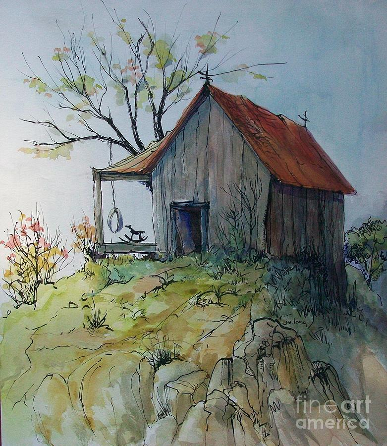 Landscape Painting - Precarious by Judith A Smothers