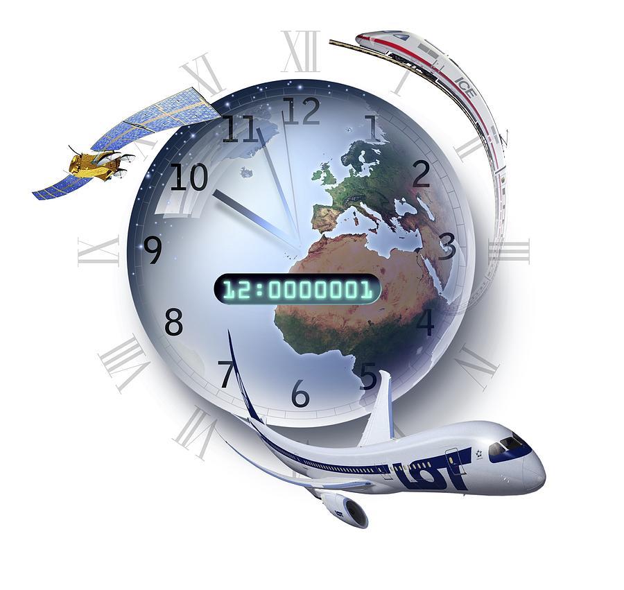 Earth Photograph - Precision Timing, Conceptual Artwork by Smetek