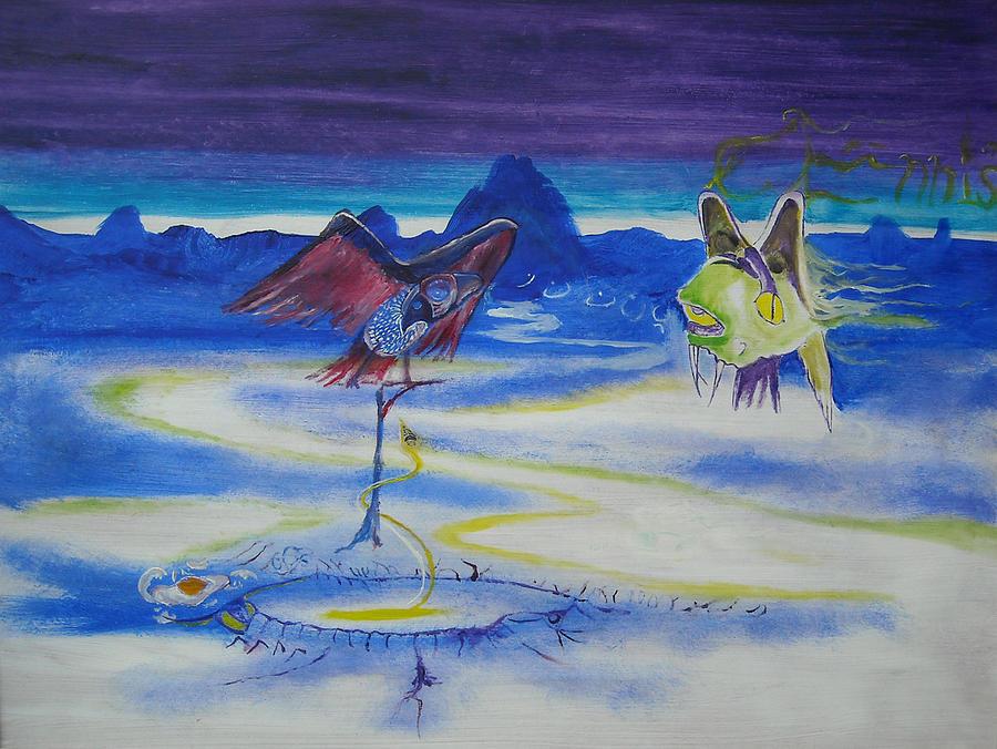 Ennis Painting - Predatory Deception by Christophe Ennis