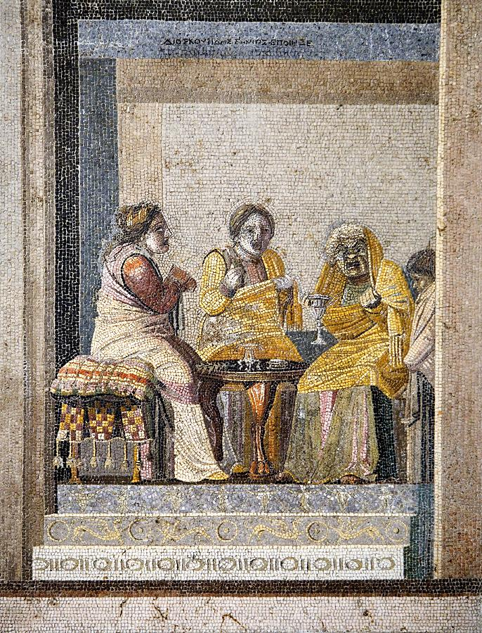 Human Photograph - Preparing A Love Potion, Roman Mosaic by Sheila Terry