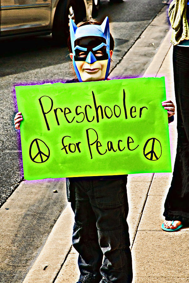 Occupy Austin Photograph - Preschooler For Peace by David Thompson