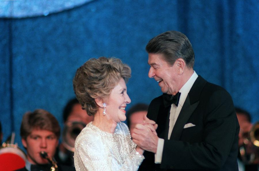History Photograph - President And Mrs. Reagan Dance by Everett