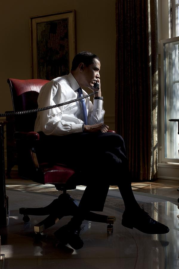 History Photograph - President Barack Obama At His Oval by Everett