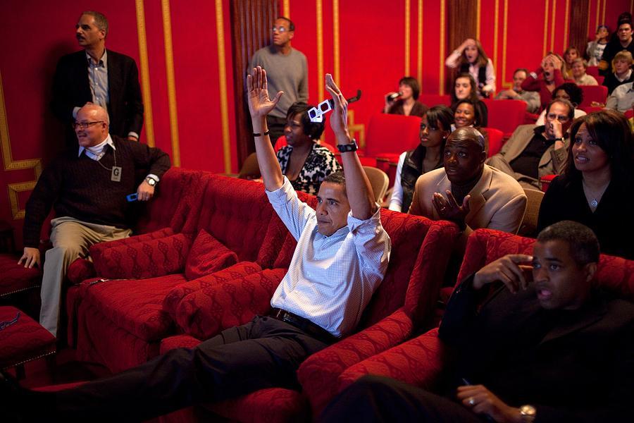 History Photograph - President Barack Obama Celebrates by Everett