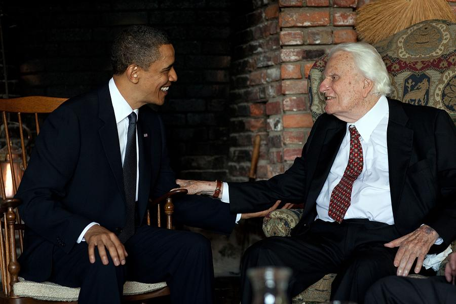 History Photograph - President Barack Obama Meets With Rev by Everett