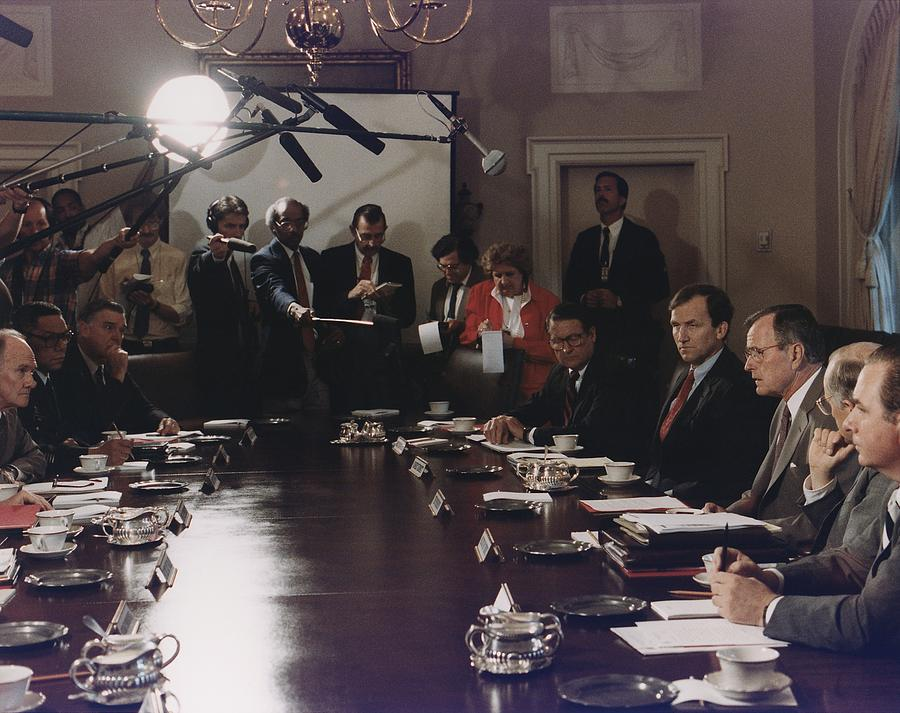 History Photograph - President Bush Participates In A Full by Everett