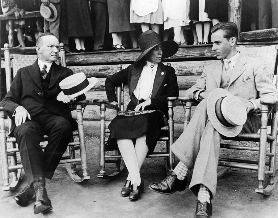 1920s Candid Photograph - President Calvin Coolidge, First Lady by Everett