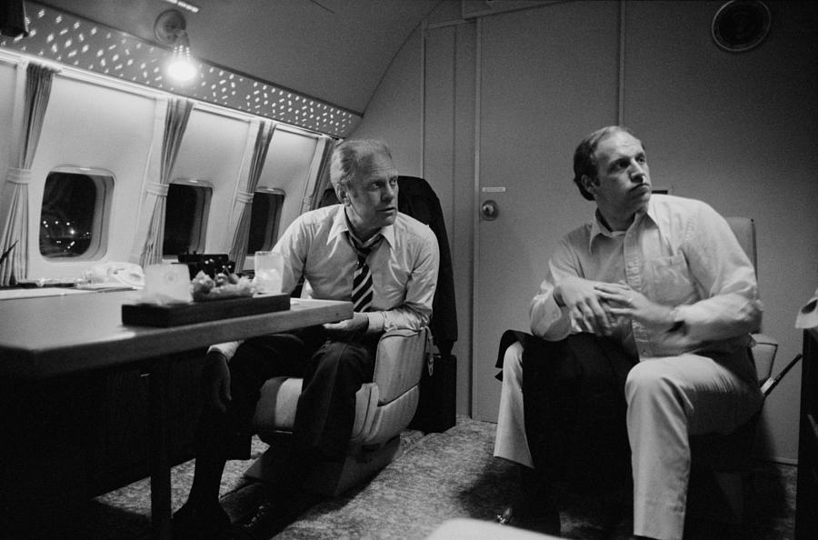 History Photograph - President Gerald Ford Aboard Air Force by Everett