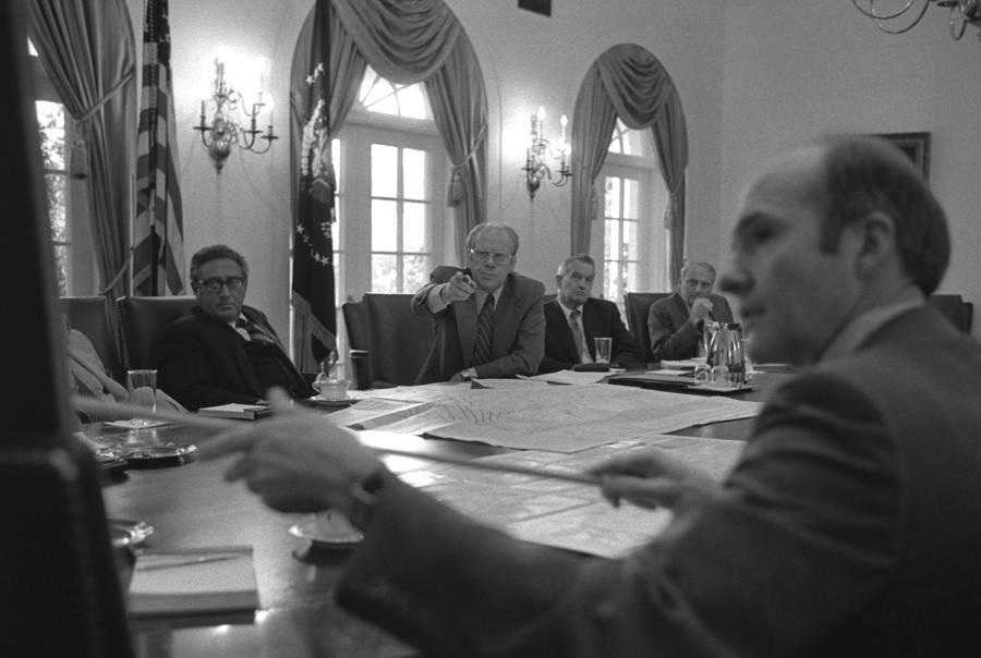 History Photograph - President Gerald Ford And National by Everett