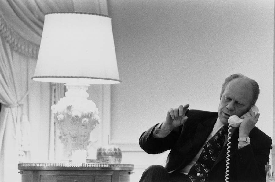 History Photograph - President Gerald Ford In The Second by Everett