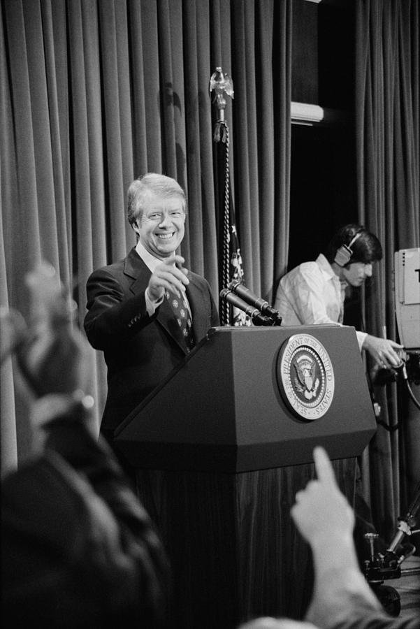 History Photograph - President Jimmy Carter Taking by Everett