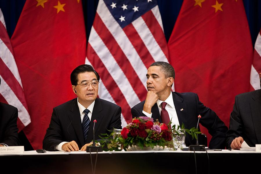 History Photograph - President Obama And Chinese President by Everett