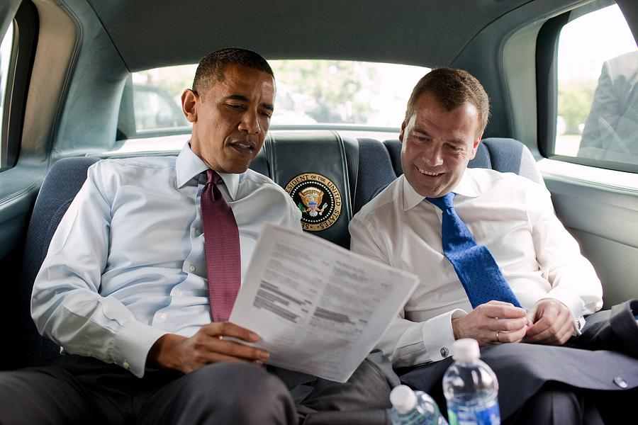 History Photograph - President Obama And Russian President by Everett