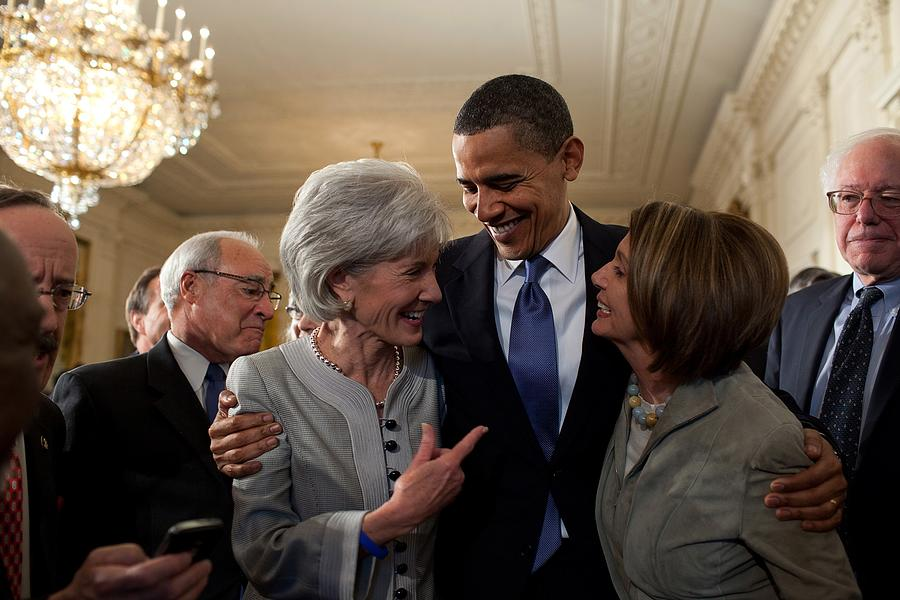 History Photograph - President Obama Embraces Health by Everett