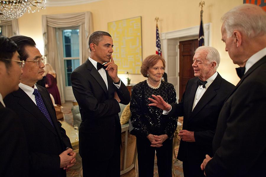 History Photograph - President Obama With Chinese President by Everett