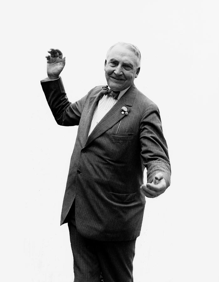 Warren Harding Photograph - President Warren G Harding - C 1920 by International  Images