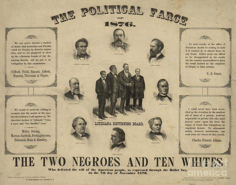 1876 Photograph - Presidential Election, 1876 by Granger