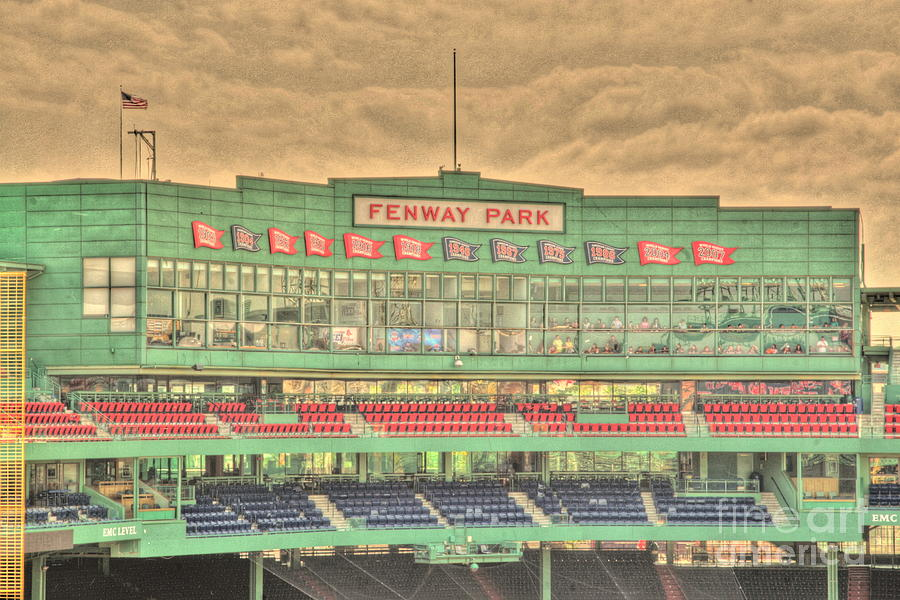 Fenway Park Photograph - Press Box 2 by Jonathan Harper