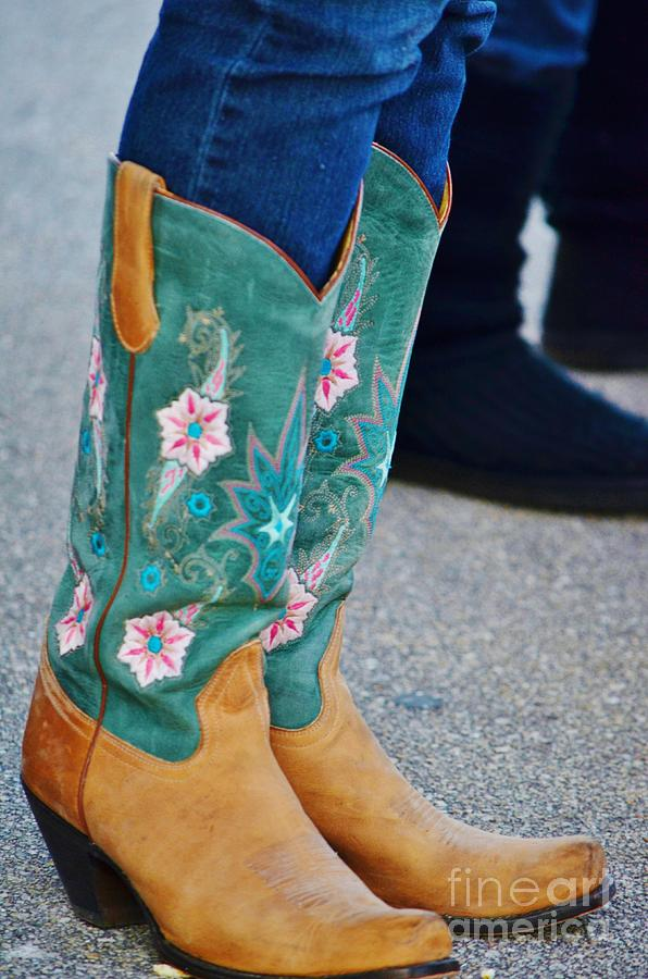 Boots Photograph - Pretty Boots by Lynda Dawson-Youngclaus