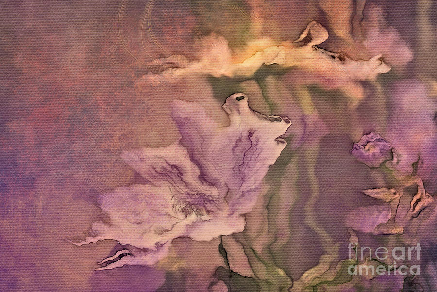 Flowers Digital Art - Pretty Bouquet - A04t4b by Variance Collections
