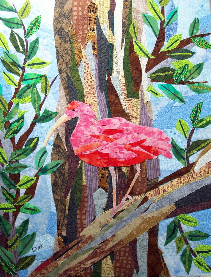 Tropical Tapestry - Textile - Pretty In Pink by Charlene White