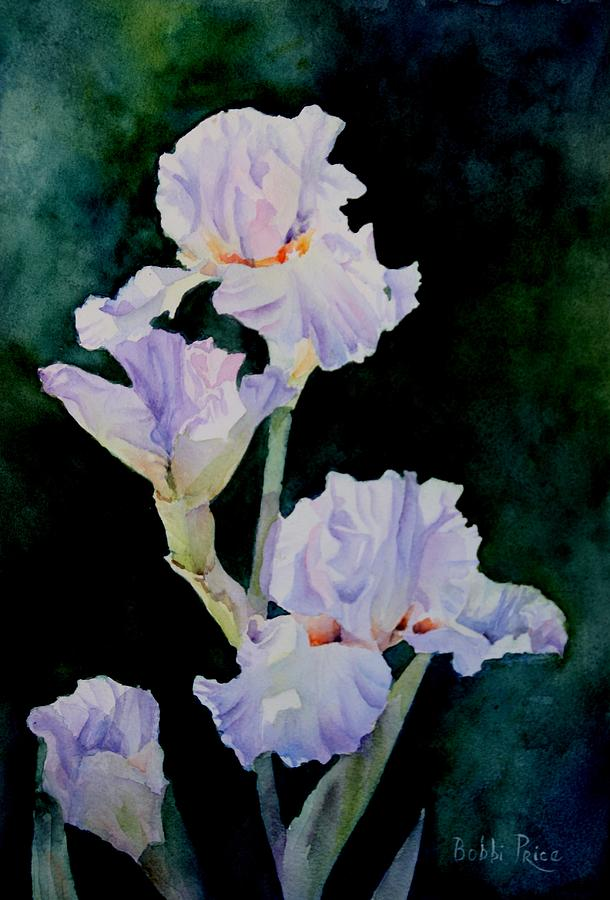 Watercolor Painting - Pretty In Purple by Bobbi Price