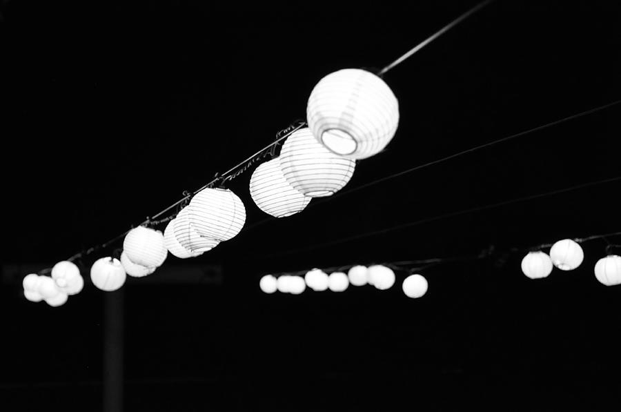 Black And White Photograph - Pretty Little Lights by Emily Smith