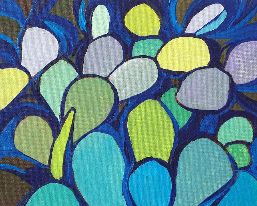 Cactus Painting - Prickly Pear 2 by Sandy Tracey