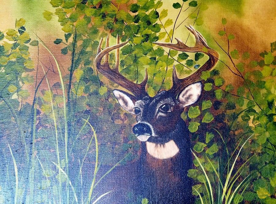 Wildlife Painting - Pride by Mary Matherne