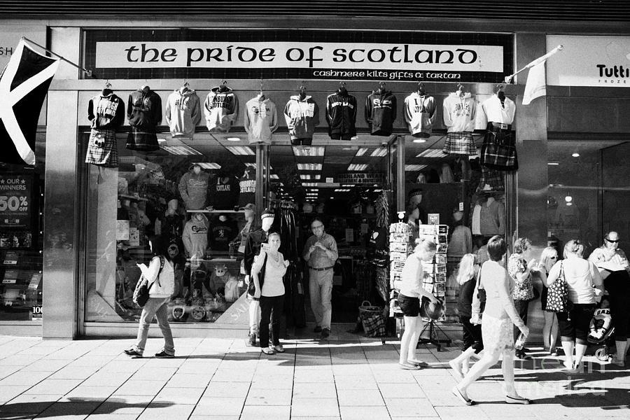 Pride Photograph - Pride Of Scotland Scottish Gifts Shop Princes Street Edinburgh Scotland Uk United Kingdom by Joe Fox