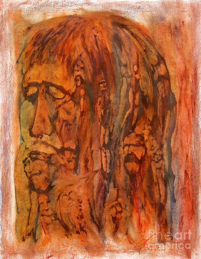 Ancestry Painting - Primal Ancestry by Linda May Jones