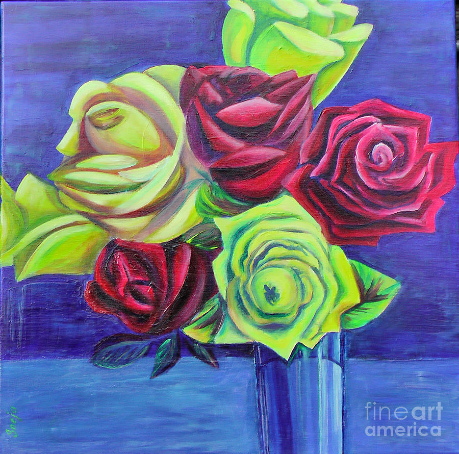 primary colors painting by snejana videlova