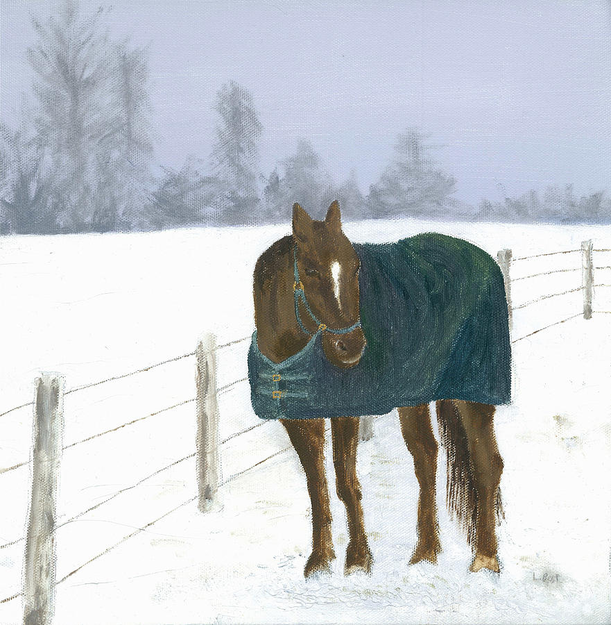 Horse Painting - Prince by Laurel Best