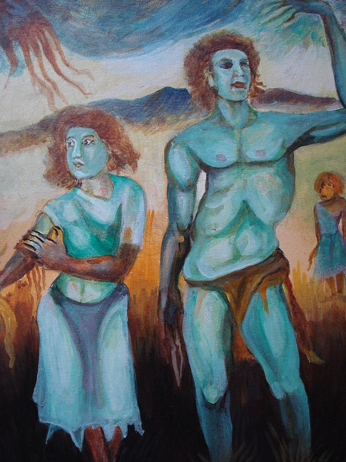 Mountain Painting - Princes And Zeus by Prasenjit Dhar
